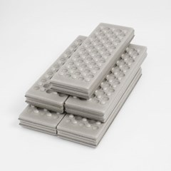 4단 접이식 미니 방석매트 5p세트 방수 등산방석(그레이)