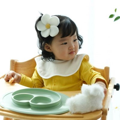 유아 롤링턱받이 3종세트 패턴 오가닉원단 아기 이유식 준비물