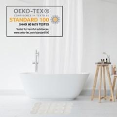 디자인 샤워커튼 욕실매트 와플세트