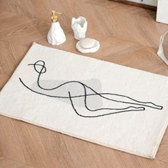 여성 드로잉 발 매트