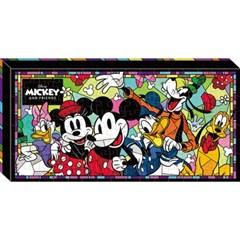 120피스 캔버스퍼즐 - 미키와 친구들(플라스틱)
