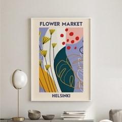 일러스트 꽃 그림 액자 플라워마켓 헬싱키