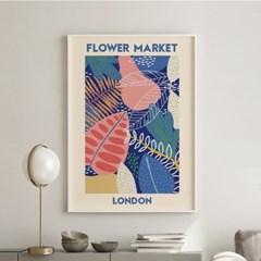 일러스트 꽃 그림 액자 플라워마켓 런던