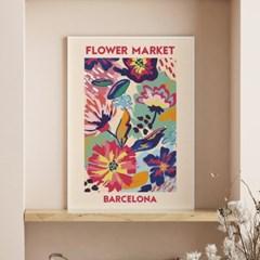 일러스트 꽃 그림 액자 플라워마켓 바르셀로나