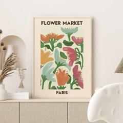 일러스트 꽃 그림 액자 플라워마켓 파리