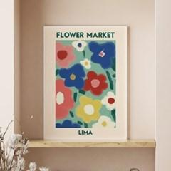 일러스트 꽃 그림 액자 플라워마켓 리마