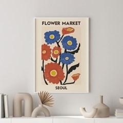 일러스트 꽃 그림 액자 플라워마켓 서울