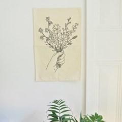 꽃다발 패브릭 포스터