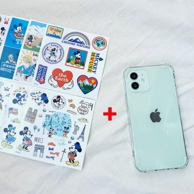 정품 미키마우스8종 스티커+네버엔딩 케이스