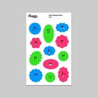Neon Bubble Face Sticker