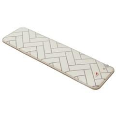 한일의료기 미니 전기매트 4~5인용 초극세사 패딩솜 화이트 50x170
