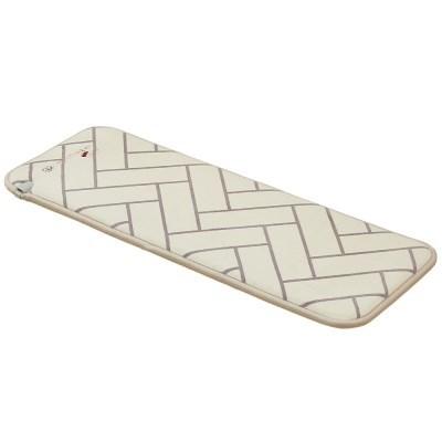 한일의료기 미니 전기매트 3인용 초극세사 패딩솜 화이트 50x130