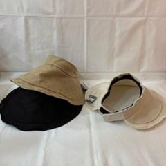 린넨 챙넓은 기본 데일리 자외선차단 패션 썬캡 모자