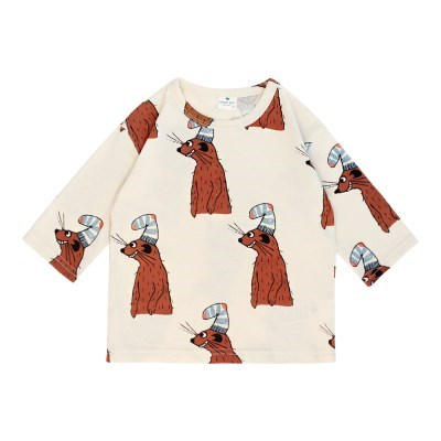 [마미버드] 미어캣 7부 티셔츠 (아이보리)