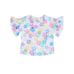 [마미버드] 꽃잎 티셔츠 (화이트)