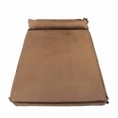 프렌들리 자충식 에어 캠핑매트(190x134cm) (브라운)/ 확장 베개 차