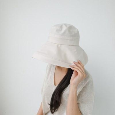 여자 봄 데일리 챙 얼굴소멸 와이드 플로피햇 모자