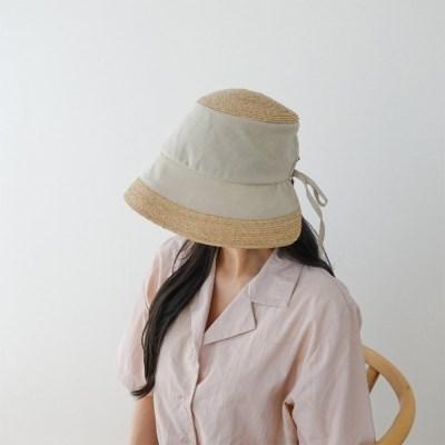 여자 봄 여름 배색 투톤 벙거지 보넷 모자