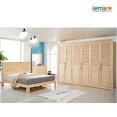 프리미엄 편백나무원목 침실풀세트 KMD-203