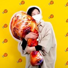 치킨 인형 닭다리 쿠션 90cm 바디필로우 베개_(301868868)