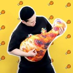 치킨 인형 닭다리 쿠션 70cm 바디필로우 베개_(301868869)