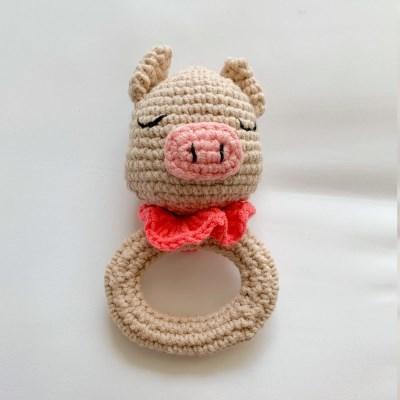 돼지 꾸리 치발기 딸랑이 강아지 이갈이장난감
