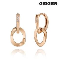 14K 큐빅 원터치 귀걸이 GI14EE298_(1125101)