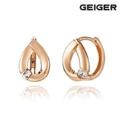 14K 큐빅 물방울 원터치 귀걸이 GI14EE299_(1125100)
