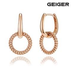 14K 체인 링 원터치 귀걸이 GI14EE307_(1125093)