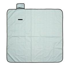 모던체크 방수돗자리(150x150cm) (민트+화이트)