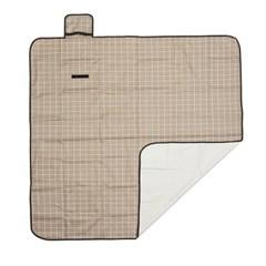 모던체크 방수돗자리(150x150cm) (브라운+화이트)