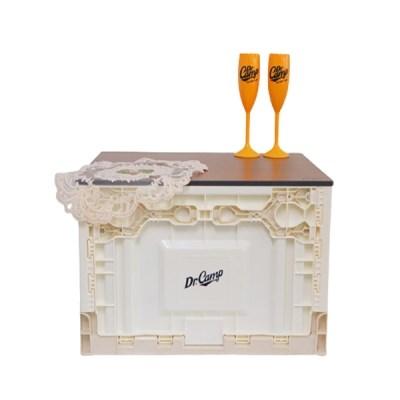 닥터캠프 폴딩박스 우드상판 테이블 쉘프 도마