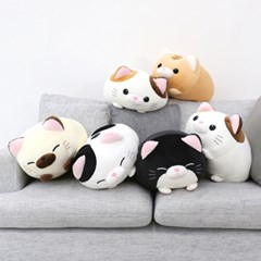 모찌모찌 만두 고양이 쿠션 인형 50CM 4종 모음