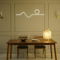 드로잉 골드 국산 LED 식탁등 펜던트 조명 40w