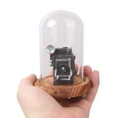 빈티지 카메라 유리돔 인테리어 장식 소품 HT722B