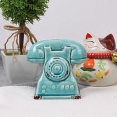 도자기 다이얼 전화기 인테리어 장식 소품