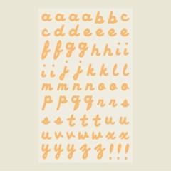 필기체 알파벳 스티커 (무광) - Tangerine