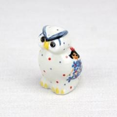 폴란드그릇 아티스티나 도자기 부엉이 소 장식품2285