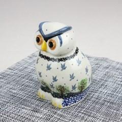 폴란드그릇 아티스티나 도자기 부엉이 중 장식품1744