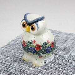 폴란드그릇 아티스티나 도자기 부엉이 중 장식품1535