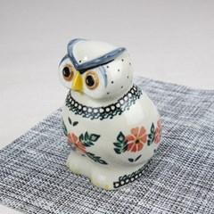 폴란드그릇 아티스티나 도자기 부엉이 중 장식품1215