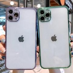 [무료배송] 스퀘어 메탈 라인 카메라일체형 아이폰7부터 12까지