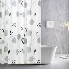플라워 패턴 샤워커튼 물튐방지 방수 욕실커튼