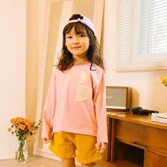 토베 B로고 티셔츠 핑크