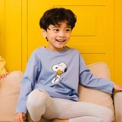 스누피 소프트 티셔츠 블루