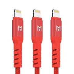 모란카노 패브릭 아이폰 8핀 라이트닝 2m 고속충전 케이블 3개