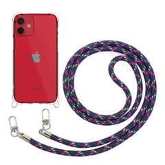 모란카노 아이폰 12 미니 크로스 목걸이 스트랩 휴대폰 케이스