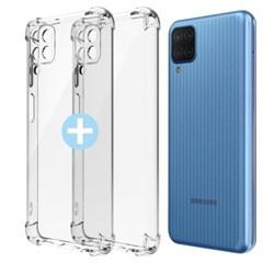 모란카노 1+1 갤럭시 M12 카이트 투명 휴대폰 케이스