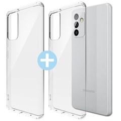 모란카노 1+1 갤럭시 퀀텀2 A82 슬라임 투명 휴대폰 케이스