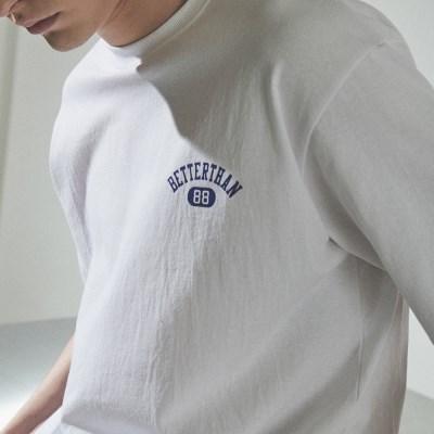 [베러댄88] 3112MW 체스트아치 백로고 티셔츠 모노화이트